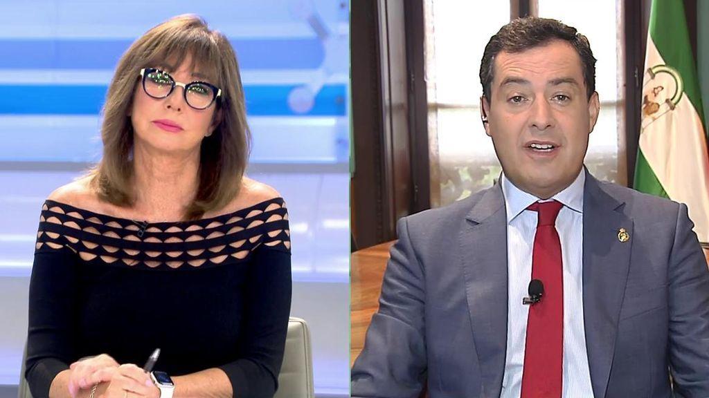 Juan Manuel Moreno pide ayuda para Andalucía