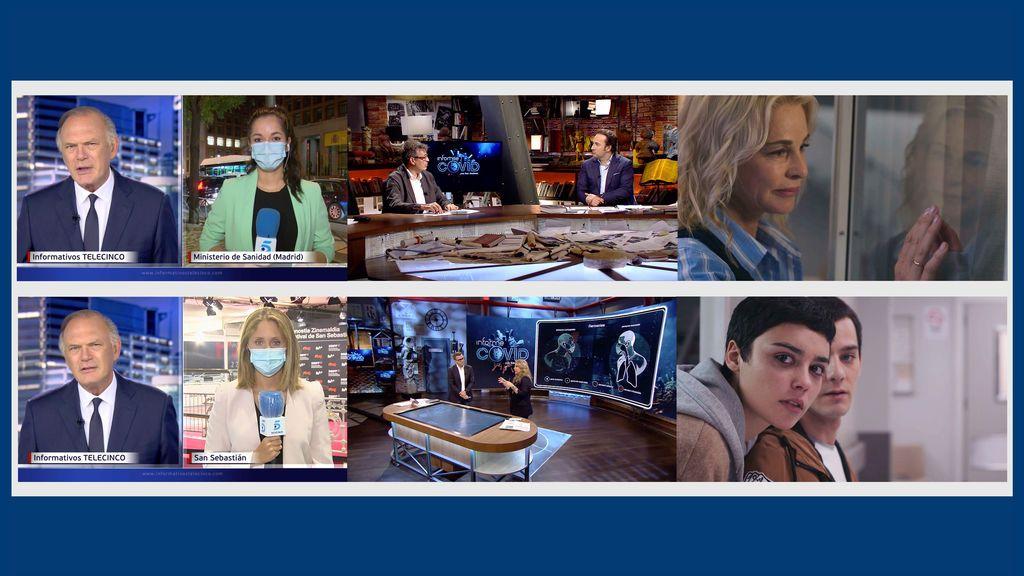 Informativos Telecinco 21:00h., 'Informe Covid con Iker Jiménez' y 'Madres: Amor y Vida', lo más visto en sus respectivas franjas de emisión