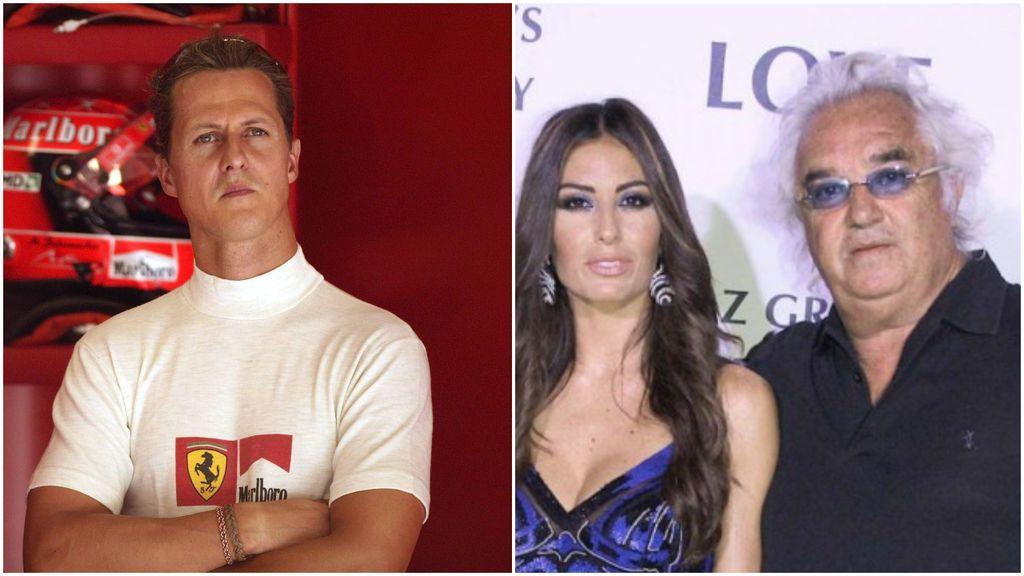 """Elisabetta Gregoraci, exmujer de Flavio Briatore, revela el estado salud de Schumacher: """"No puede hablar, se comunica con los ojos"""""""