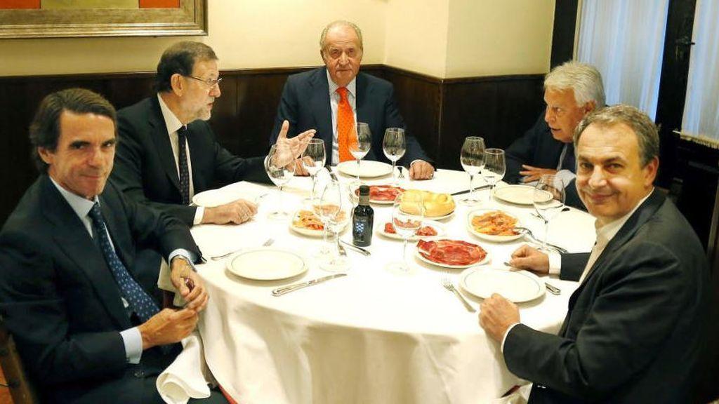 rey con expresidentes julio 2015