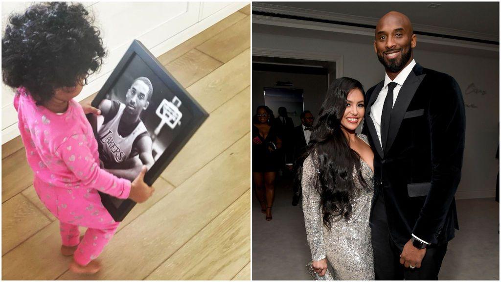 """La hija pequeña de Kobe Bryant no se separa en casa de una foto del jugador fallecido: """"Es papá"""""""