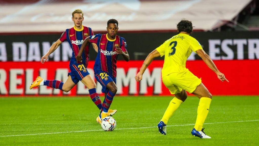 Ansu Fati lleva al Barça a la victoria ante el Villareal