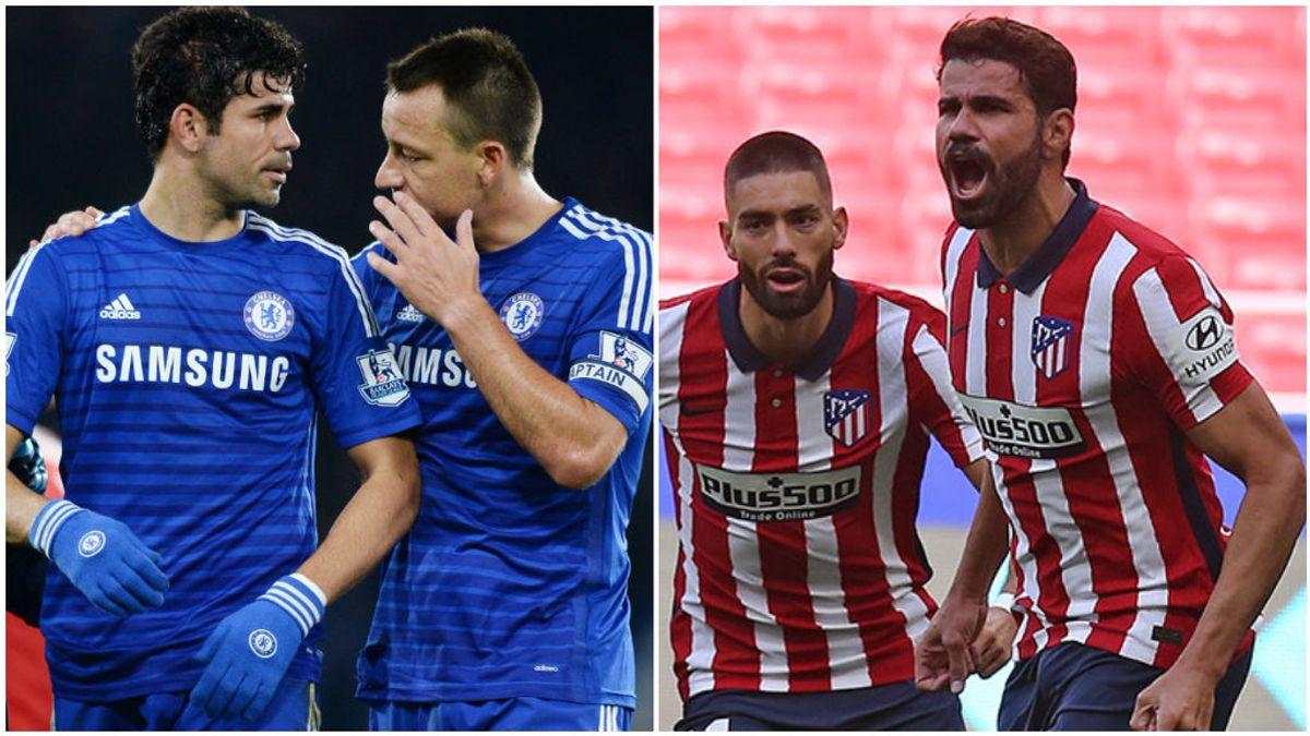Diego Costa y Terry, en su etapa en el Chelsea.