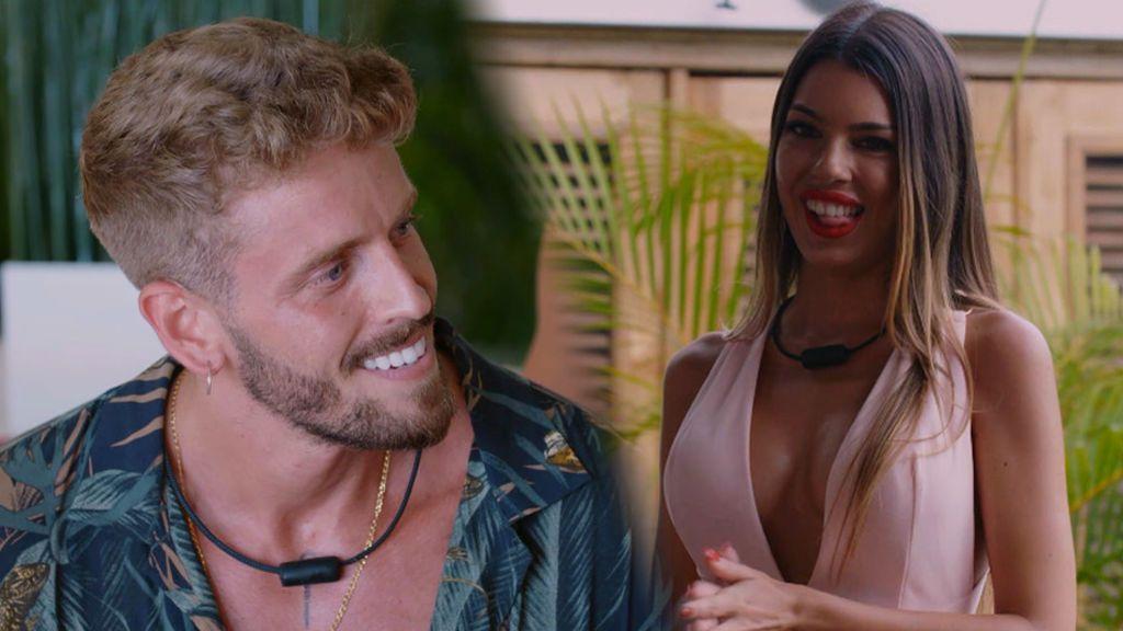 """Andrea y Óscar vuelven a 'La isla de las tentaciones' como solteros con una sugerente pregunta: """"¿Dónde está tu habitación?"""