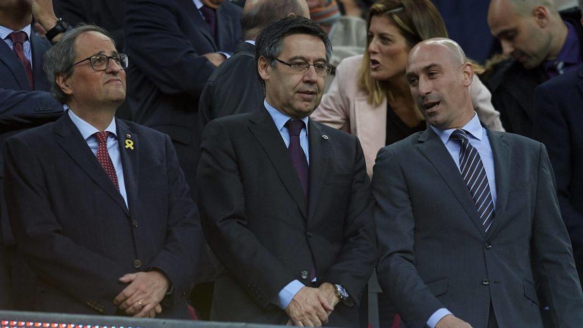 Quim Torra, en el palco del Camp Nou en una imagen de archivo