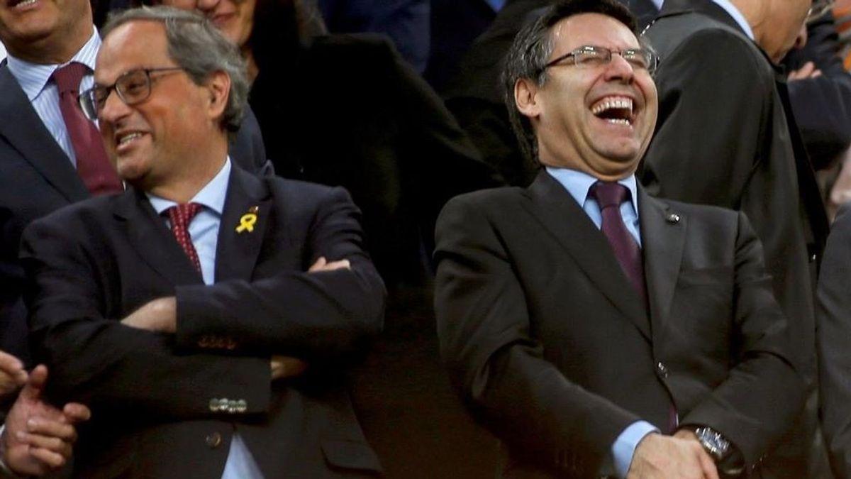 El Barça se vuelve a meter en política y sale en defensa de Quim Torra tras ser inhabilitado como presidente de la Generalitat de Cataluña