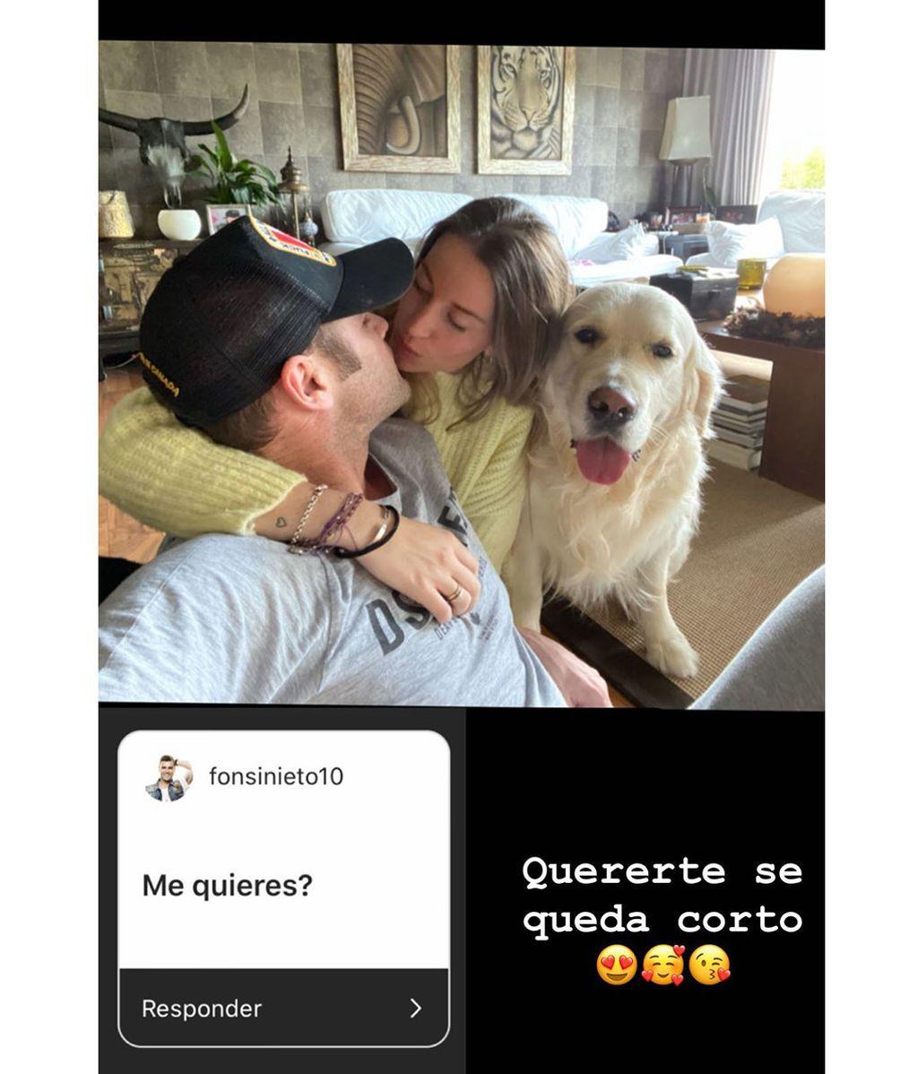 Marta Castro responde a la pregunta cariñosa de Fonsi Nieto
