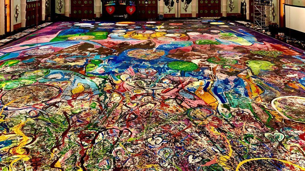 Unidos a través de la pintura más grande del mundo: la obra del británico Sacha Jafri que apoyan los famosos