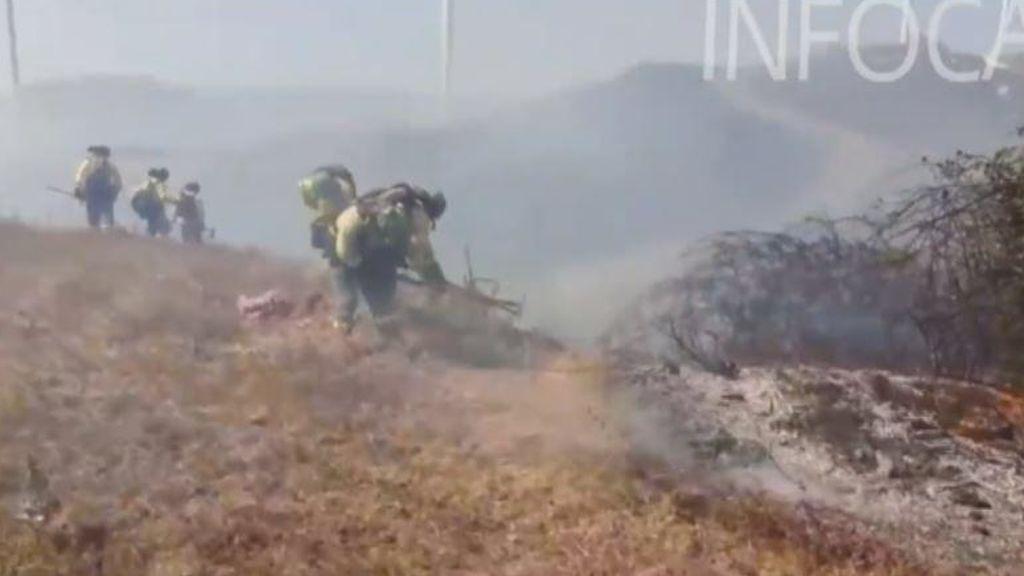 Un incendio forestal en Tarifa provoca el corte de la carretera N-340