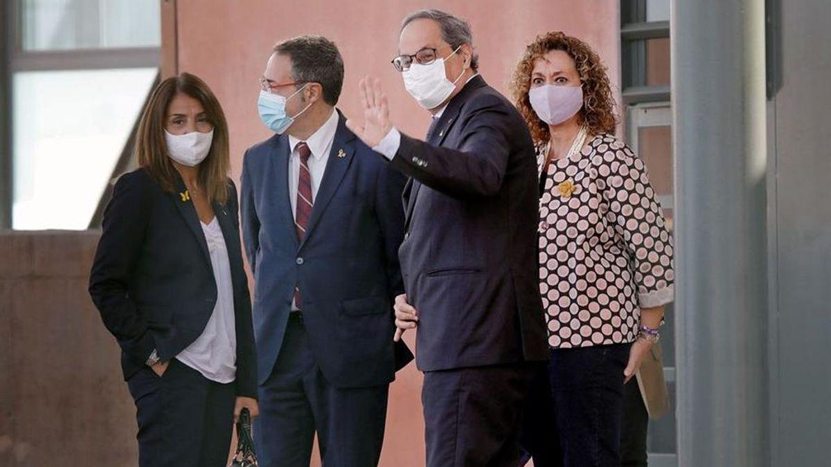 Torra visita a los políticos encarcelados en Lledoners