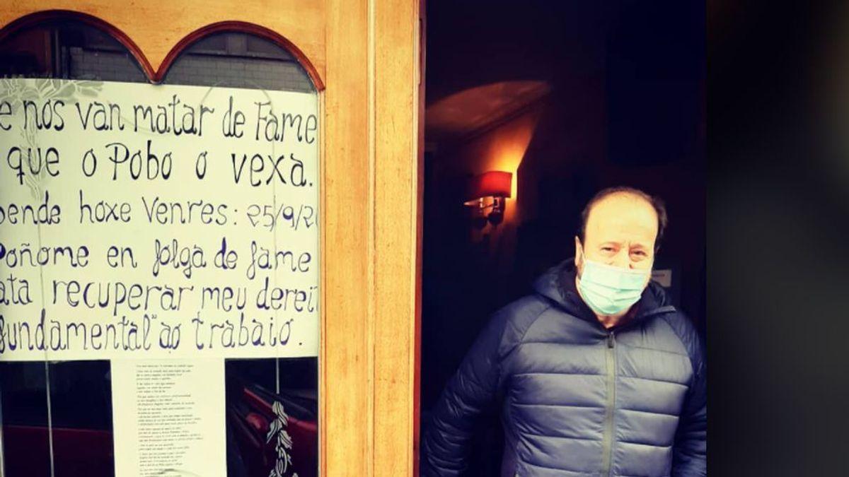 Manuel, el rostro del crisis del coronavirus, se pone en huelga de hambre para que le dejen abrir su local