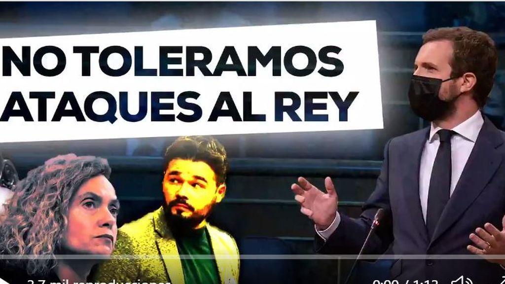 """El PP traslada la bronca política a las redes sociales: """"No toleramos ataques al rey"""""""