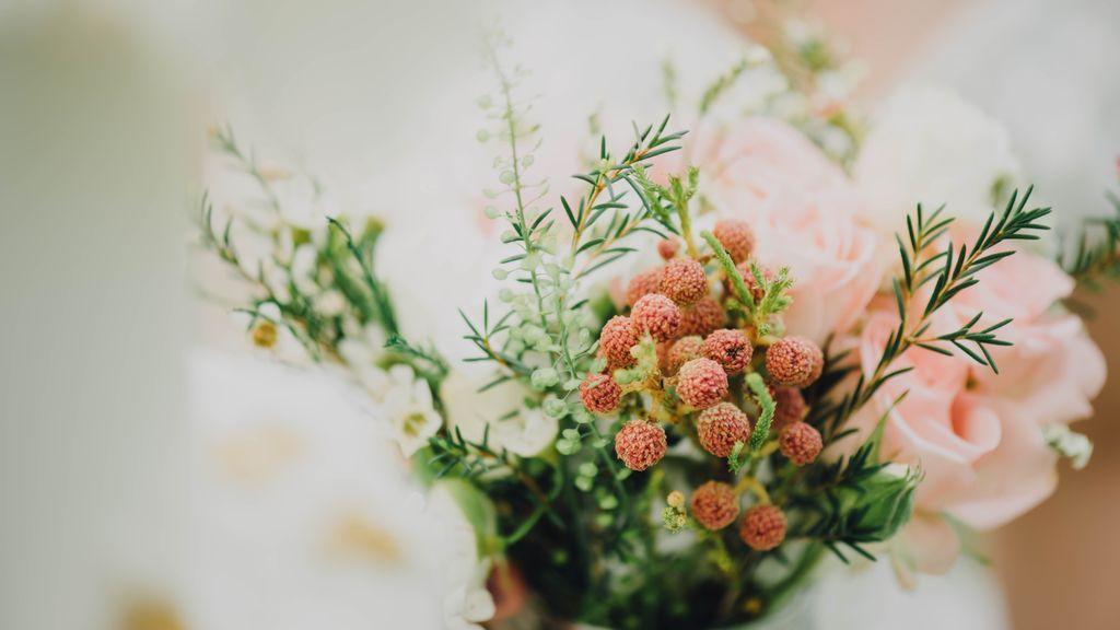Ramos de novia con flores secas o preservadas, la solución para que dure para siempre