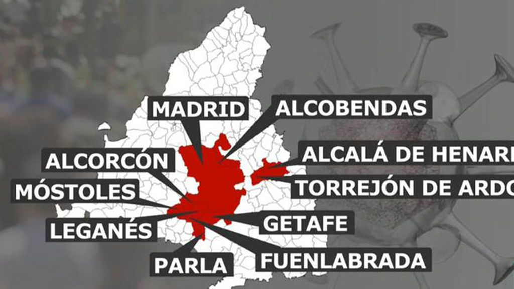 Mapa municipios Madrid restricciones