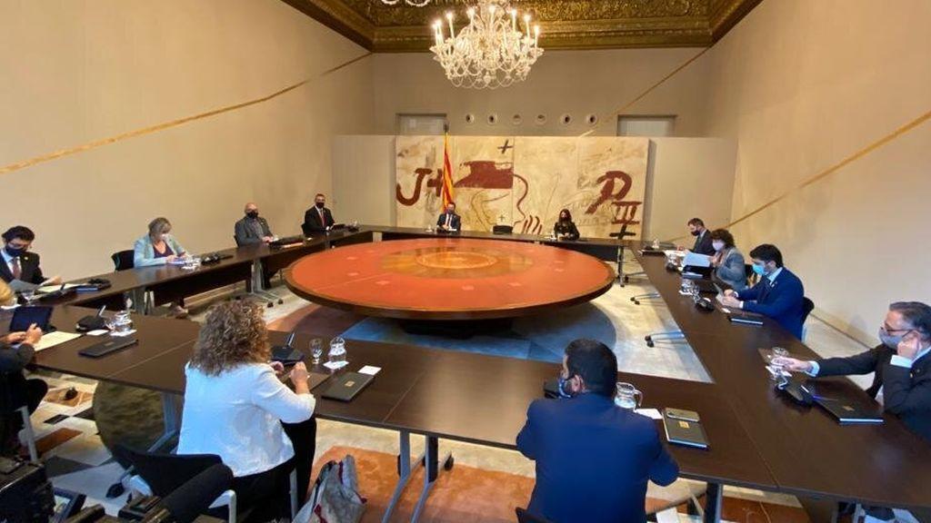 Primera reunión de Govern sin Quim Torra: su silla se queda vacía y Aragonés preside el Consejo Ejecutivo