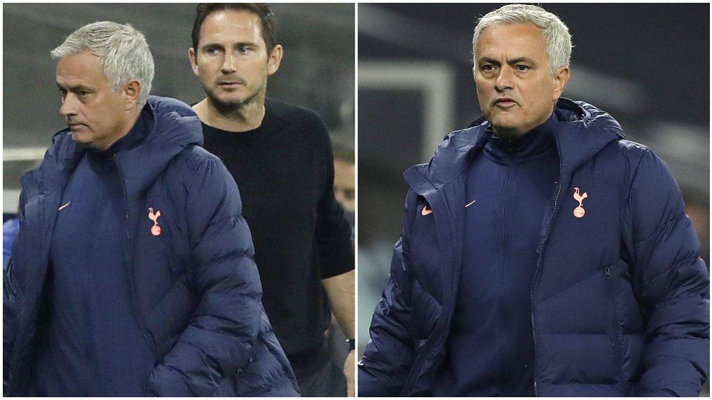 José Mourinho, con Lampard durante el encuentro.