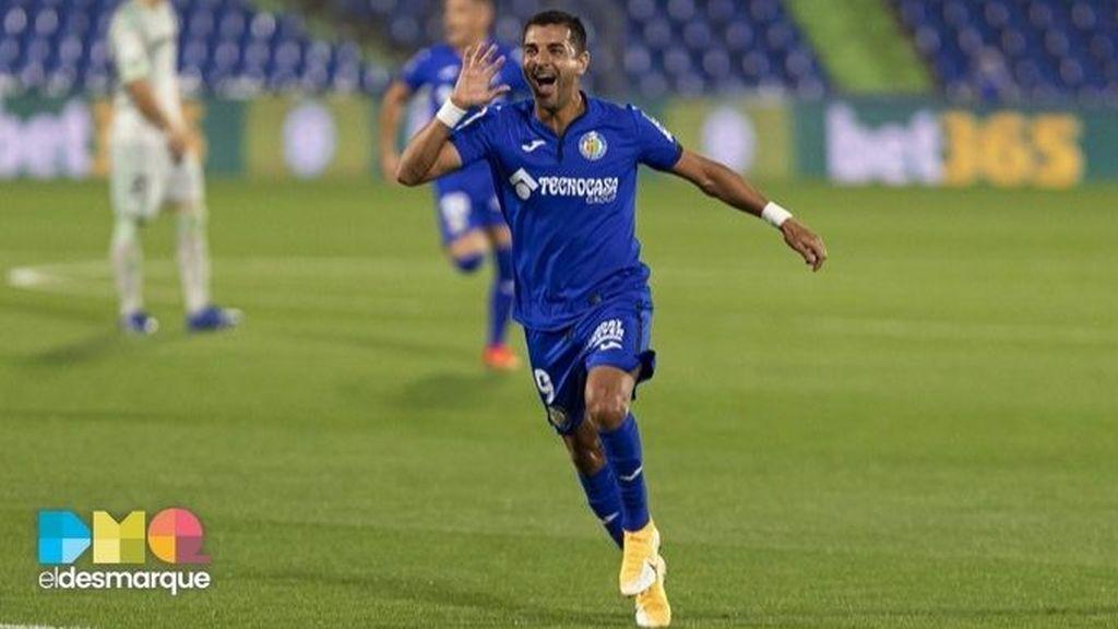 Ángel celebra su gol en el Getafe-Betis