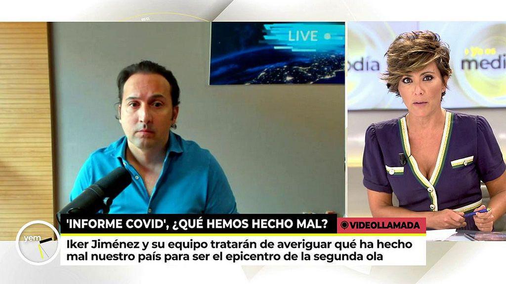 """Iker Jiménez: """"En Madrid el resultado del análisis de las aguas residuales era como para tomárselo muy en serio"""""""