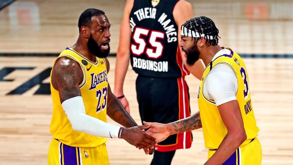 Los Lakers de Lebron y Davis vapulean a Miami en el primer partido de las finales (116-98)