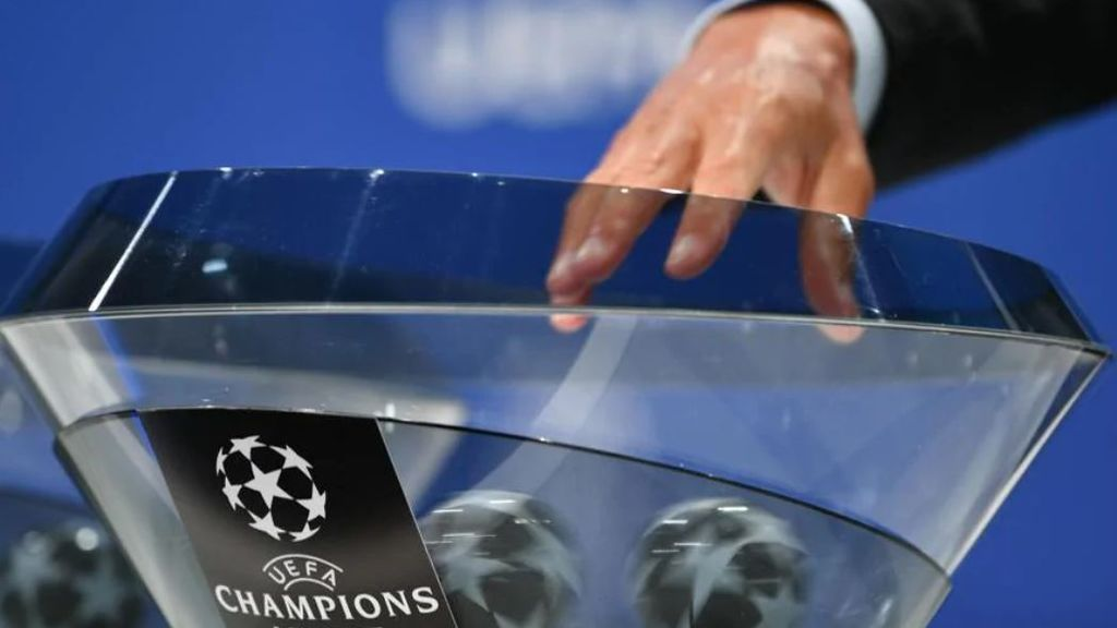 Bolas del sorteo de la Champions
