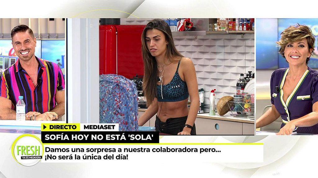 Sofía Suescun se entrena en 'Ya es mediodía Fresh' desde el pisito de 'Sola'