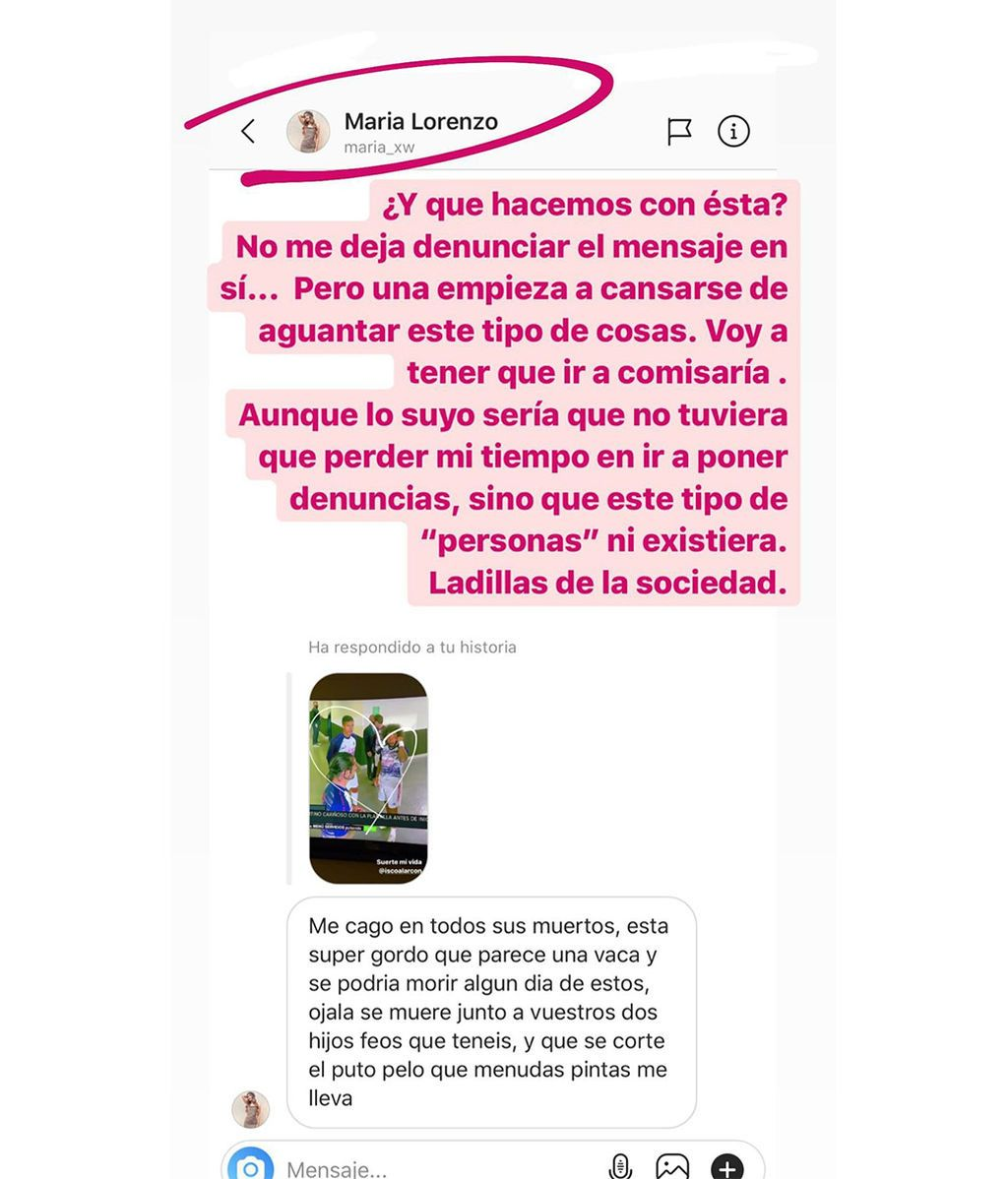 Sara Sálamo responde a una hater que amenaza e insulta a su marido e hijos