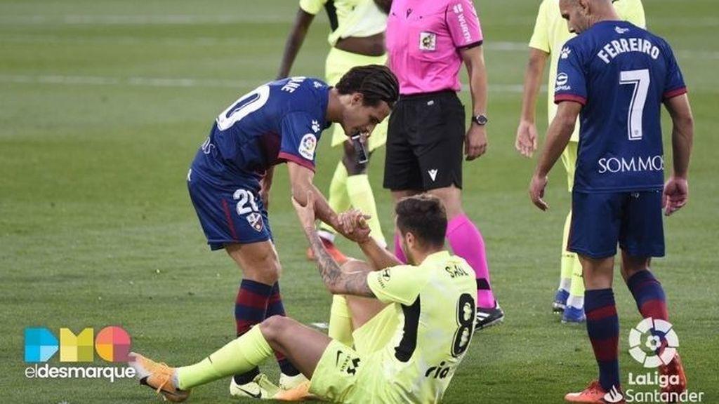 Seoane y Saúl en el Huesca-Atlético