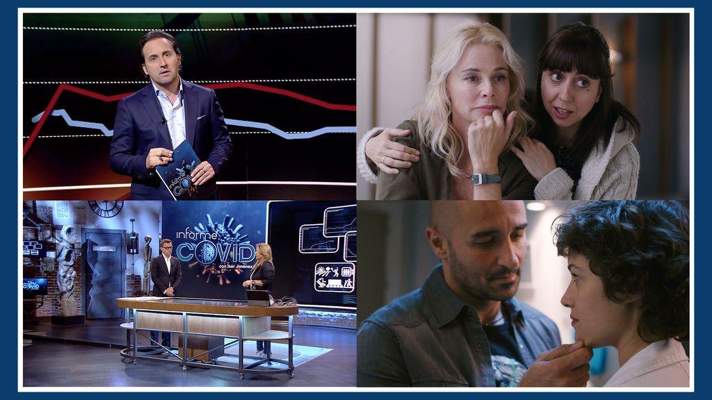 'Informe Covid' y 'Madres. Amor y Vida', líderes de la noche, entregan a Telecinco la victoria del prime time y el late night