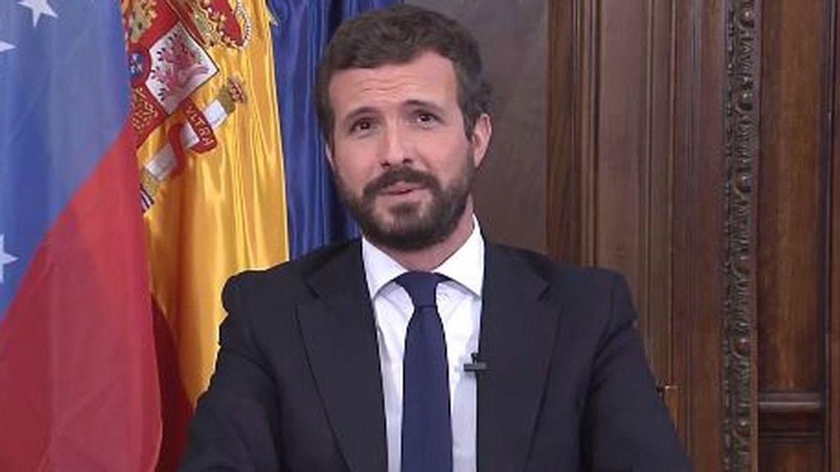 """Casado y su """"Aló Presidente, Guaidó"""", convierte una  videoconferencia con Venezuela en un alegato contra Podemos"""