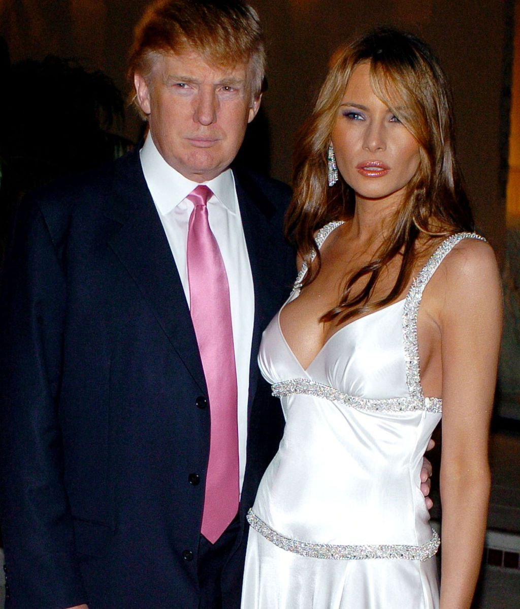 Trump y Melania, en Palm Beach (Florida), en 2005
