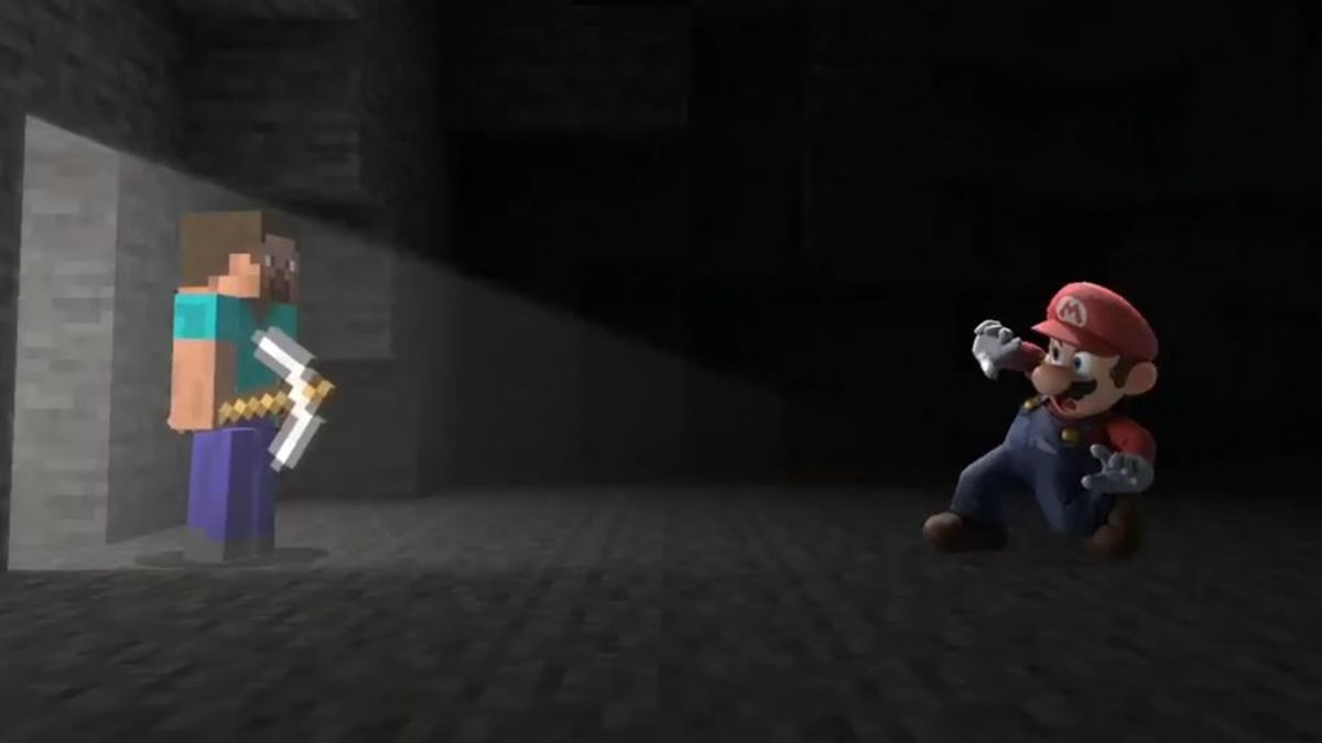 Minecraft y Super Smash Bros. Ultimate