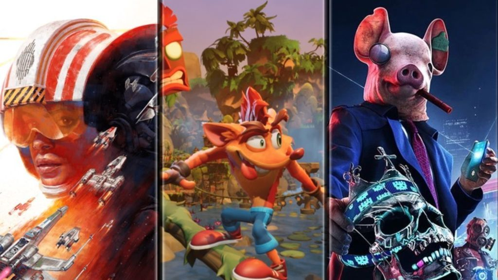 Star Wars Squadrons, Crash Bandicoot 4 y Watch Dogs: Legion