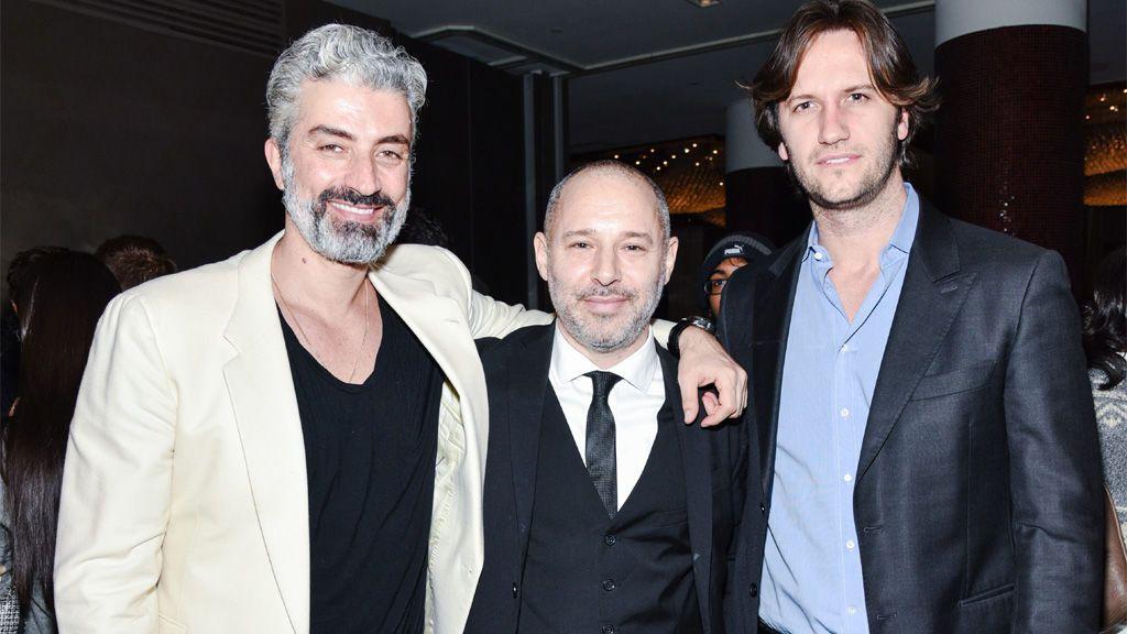 Francesco Belcaro (derecha), en un evento tributo a Jeffrey Epstein en Nueva York