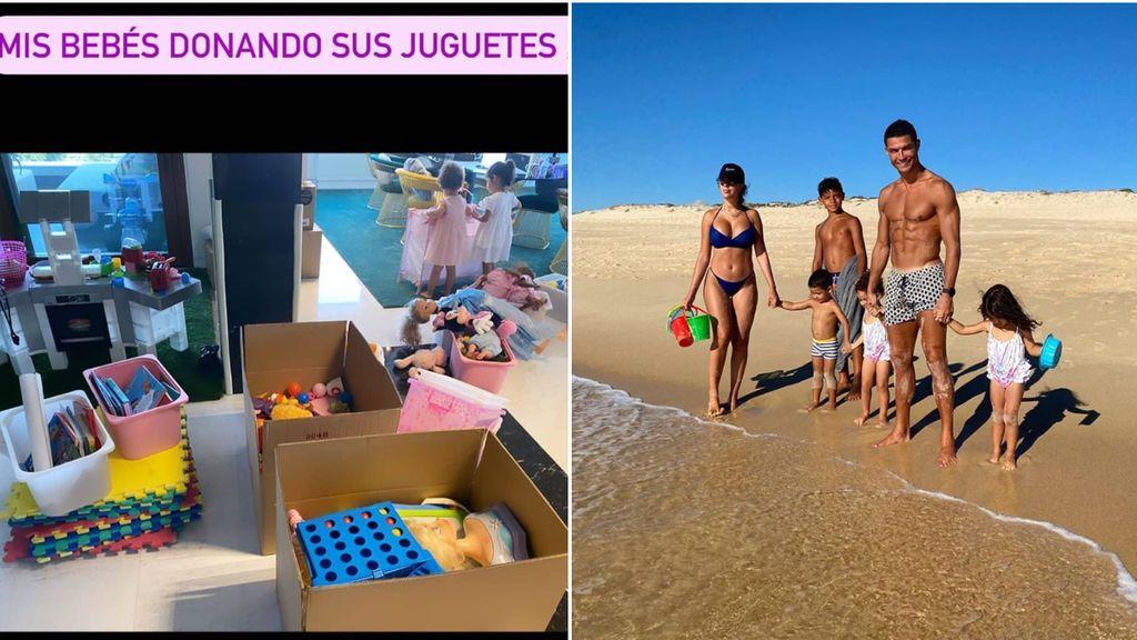 """Las bebés de Cristiano Ronaldo y Georgina donan sus juguetes a niños enfermos: """"Puro amor"""""""