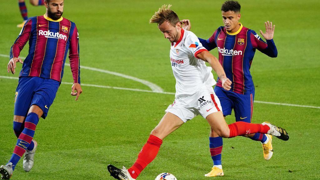 El Sevilla araña puntos en el Camp Nou: los de Lopetegui le plantaron cara al Barça y consiguen el empate