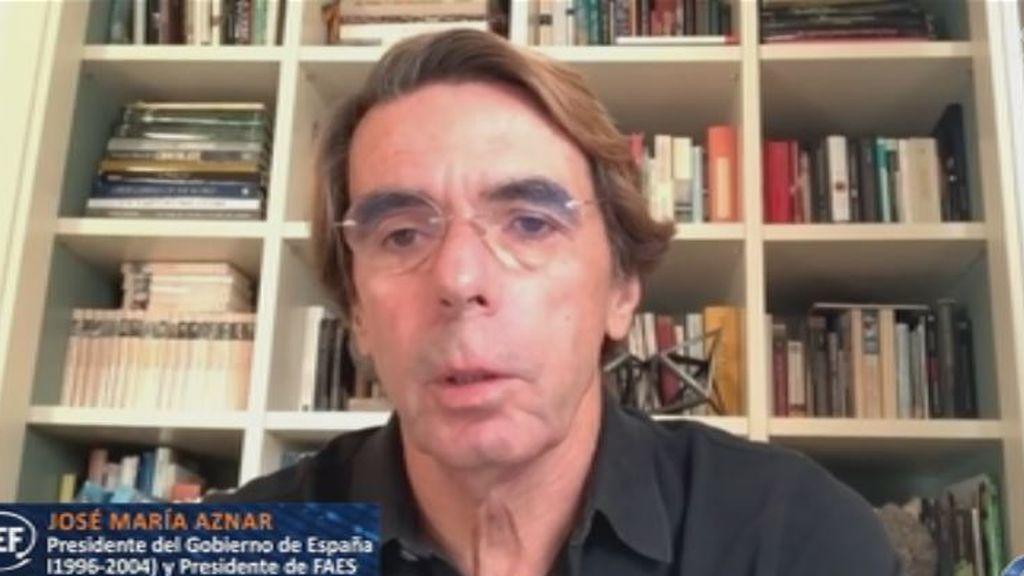 """Aznar sobre Pablo Casado: """"Tiene que ganarse los galones"""""""
