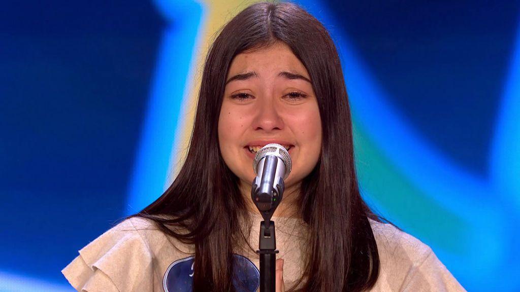 La voz de María se lleva el 'Ticket dorado' y deja 'flipando' al jurado de 'Idol Kids'