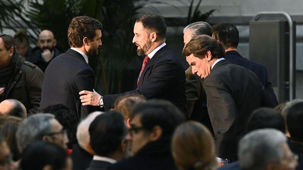 Aznar, Abascal y Casado en una imagen de archivo