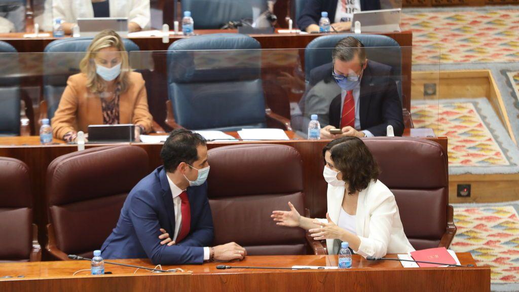 Ayuso y Aguado  en la Asamblea de Madrid