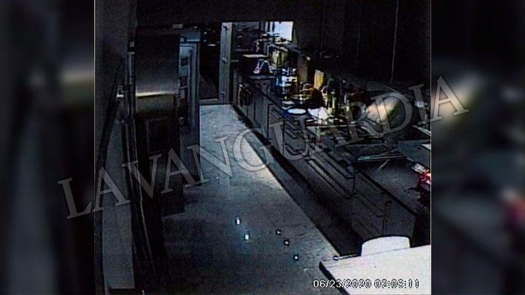 Imágenes de las cámaras de vigilancia en casa de Mainat