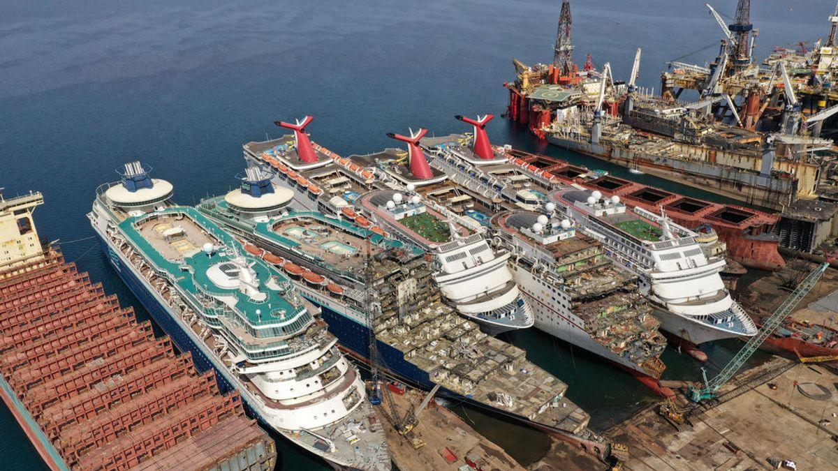 Se desmantelan cruceros de lujo por la crisis del sector a raíz del coronavirus
