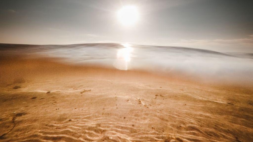 Un desierto en el Ártico: cómo se ha formado un paisaje de arena entre el hielo