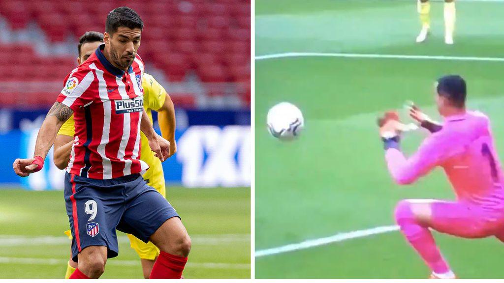 El detalle desapercibido del Atlético-Villarreal: Luis Suárez pidió penalti por mano de Asenjo dentro del área