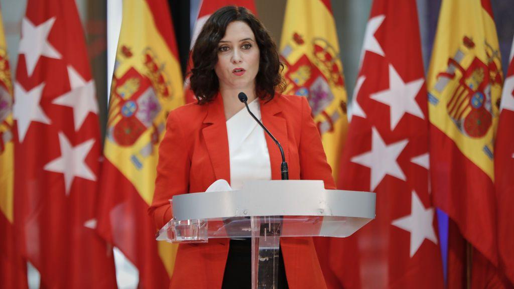 """Ayuso defiende los datos de Madrid y acusa a Sanidad de difundir el """"mensaje del miedo"""""""