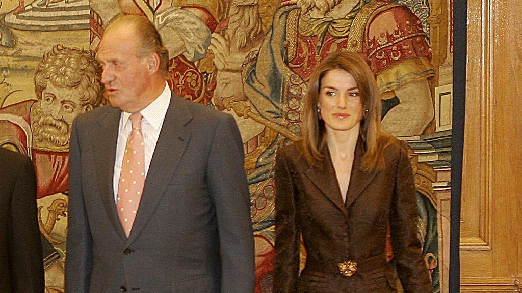 Letizia y el rey emérito