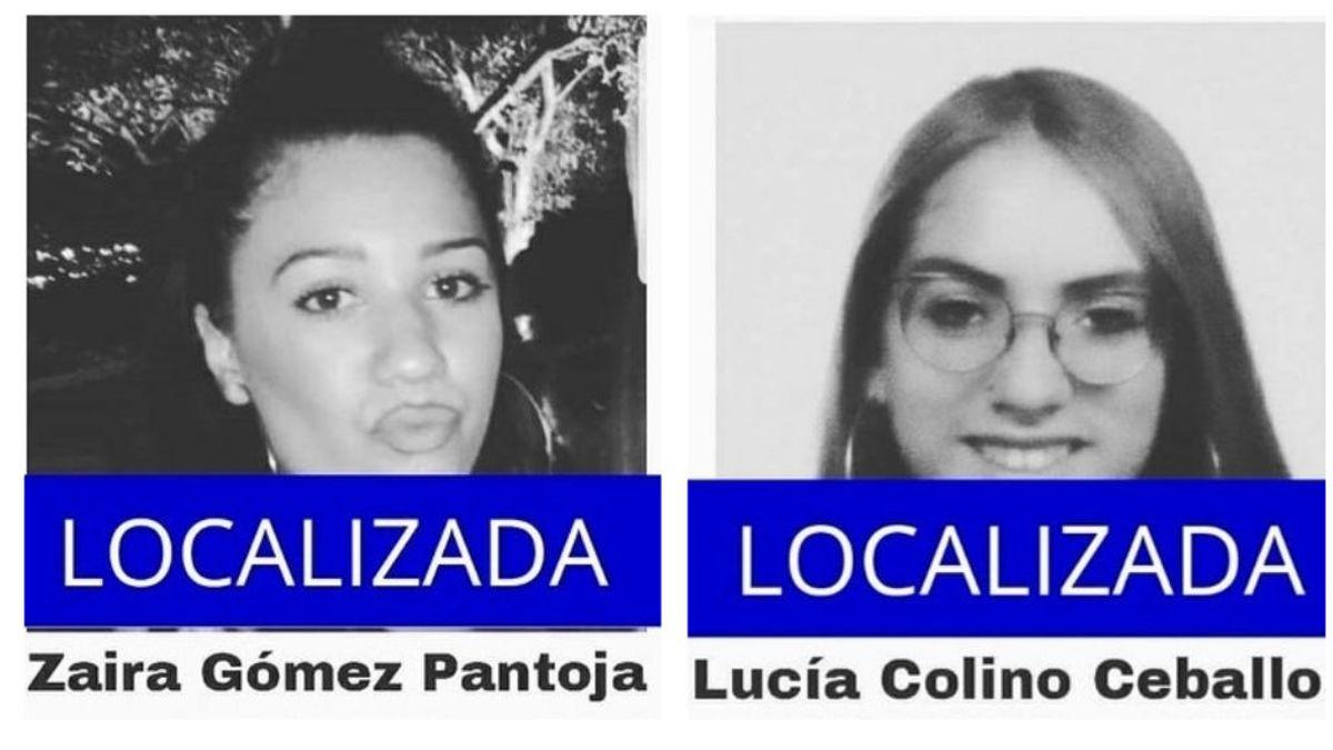Localizan a Zaira y a Lucía, dos menores de 16 años que habían desaparecido en Sevilla y Valladolid