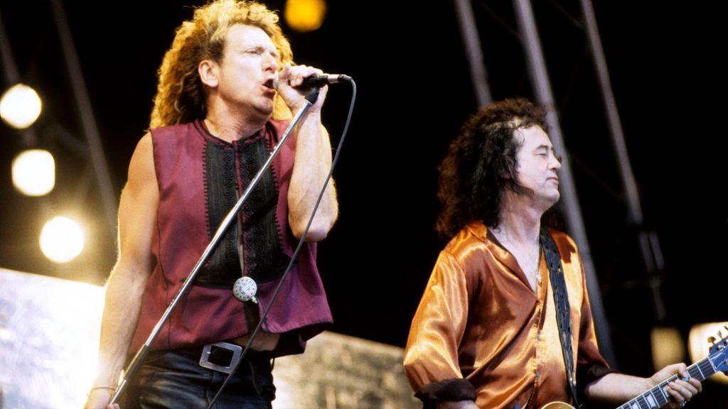 Led Zeppelin en el Festival de Glastonbury en 1995- Cordon Press