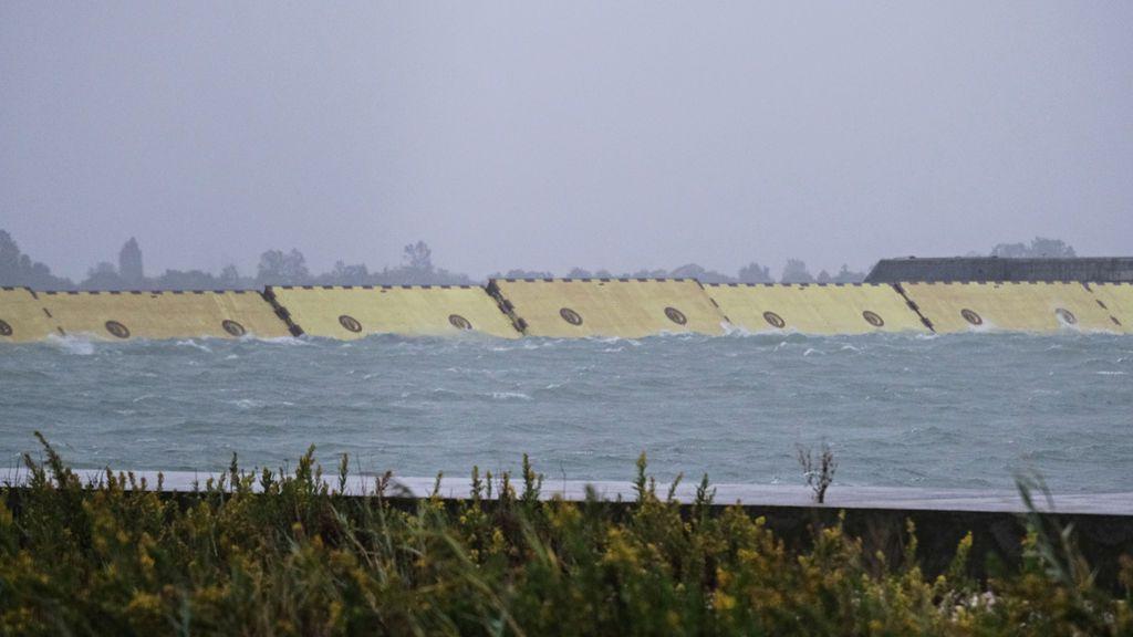 Éxito de las compuertas contra el 'acqua alta' en Venecia