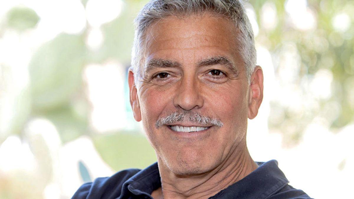 George Clooney en Sardenia (Italia), en julio de 2018