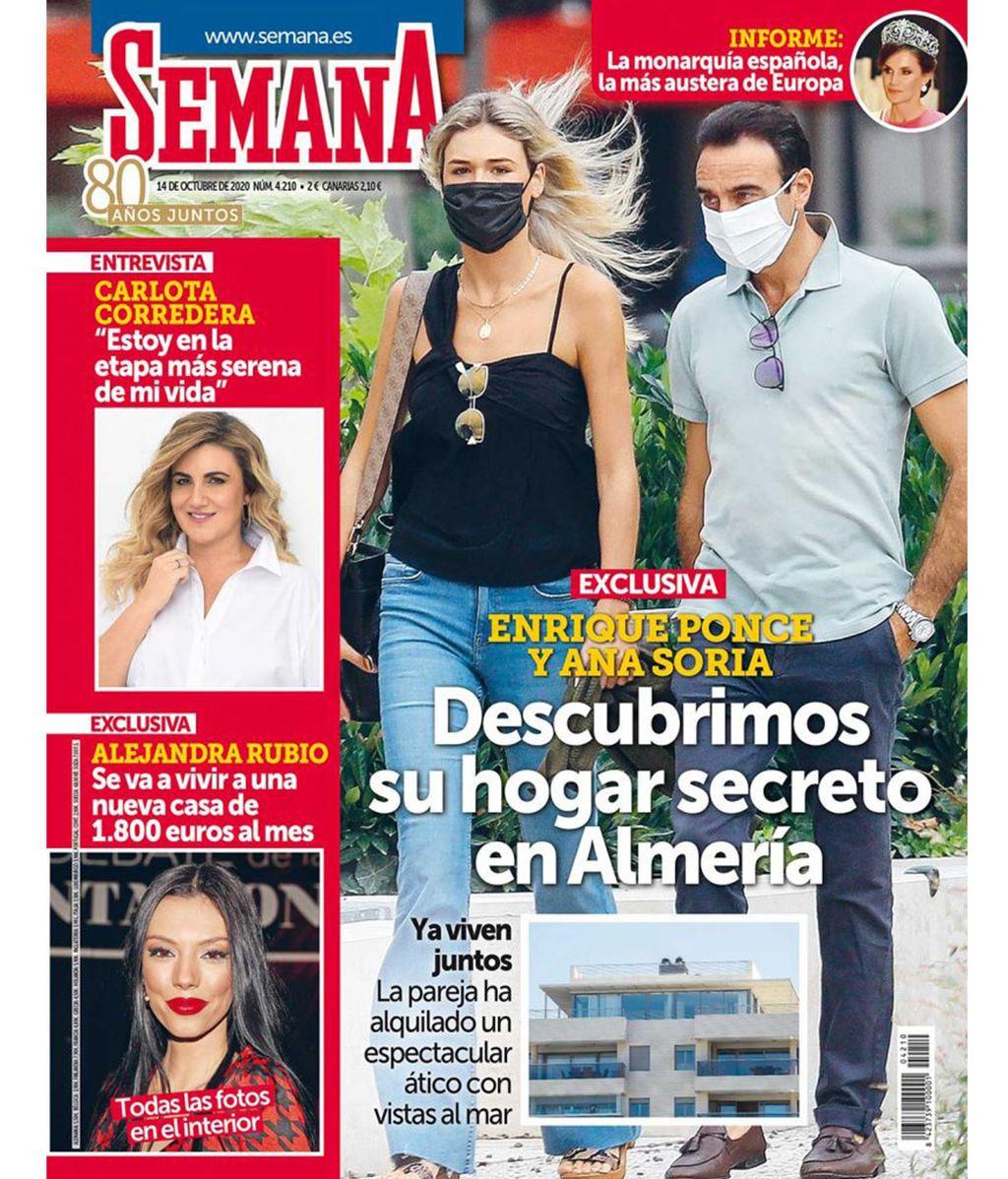 Ana Soria y Enrique Ponce se van a vivir juntos a un ático de Almeria